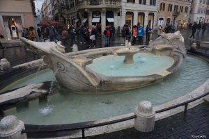 Rome Italy Spanish Steps Longboat Fountain