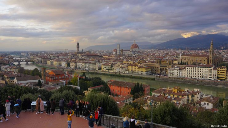 Florence Italy Piazzale Michelangelo