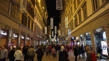 Florence Italy Via dei Calzaiuoli