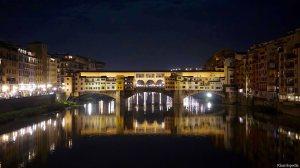 Florence Italy Ponte Vecchio Night