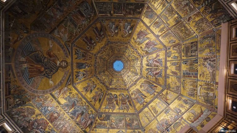 Florence Italy Duomo Baptistry Mosaic