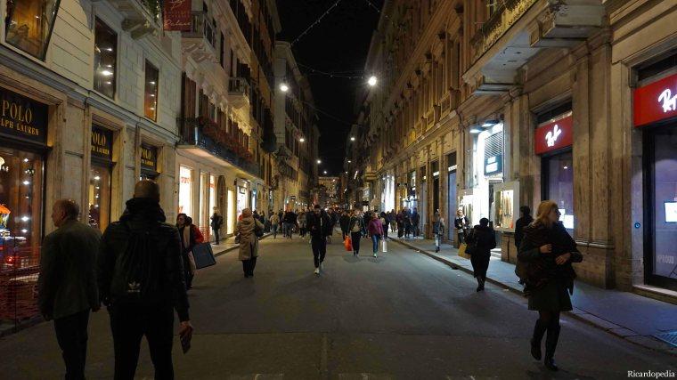 Rome Italy Via del Corso