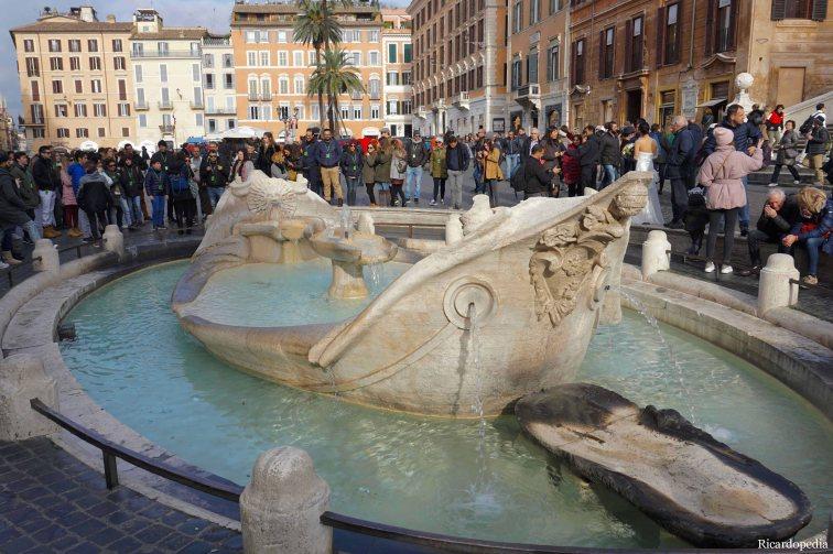 Rome Italy Barcaccia Fountain