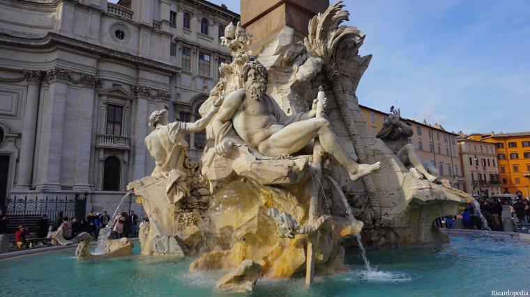 Rome Italy Fontana dei Fiumi