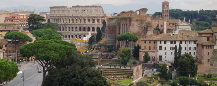 Rome Italy Colosseum Forum