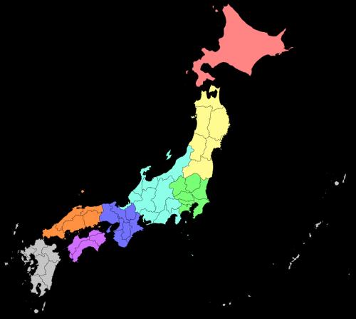 Japan Map Hokkaido