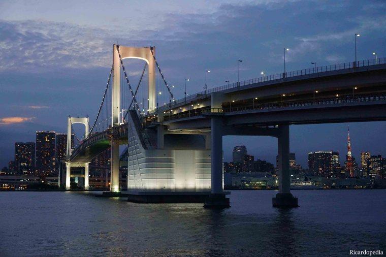 Japan Tokyo Odaiba Daiba Park Rainbow Bridge