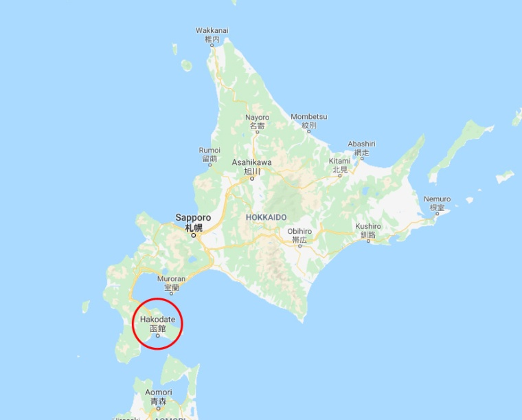 Japan Hokkaido Hakodate Map
