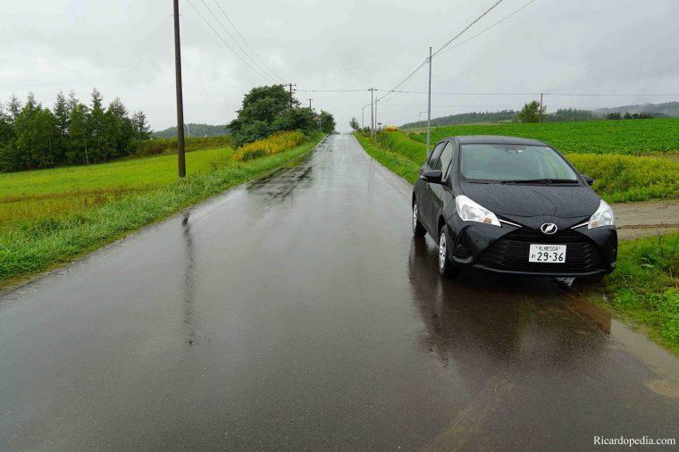 Japan Hokkaido Driving Rain