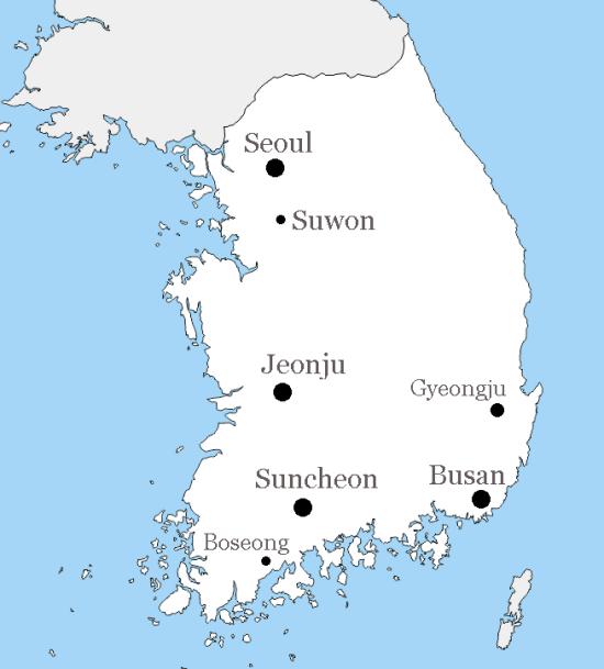 Korea 2019 Map