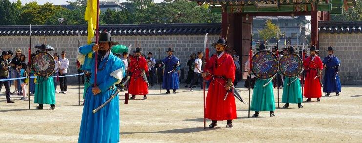 Seoul Korea Gyeongbokgung Guard Changing