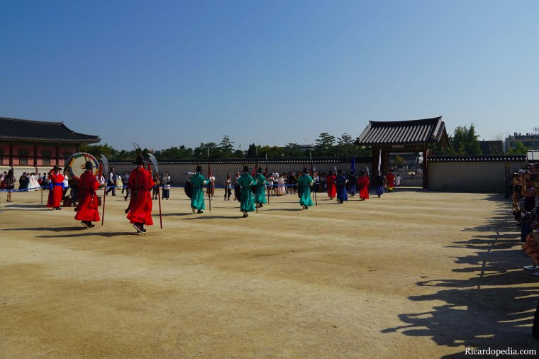 Seoul Korea Gyeongbokgung Guard Changing