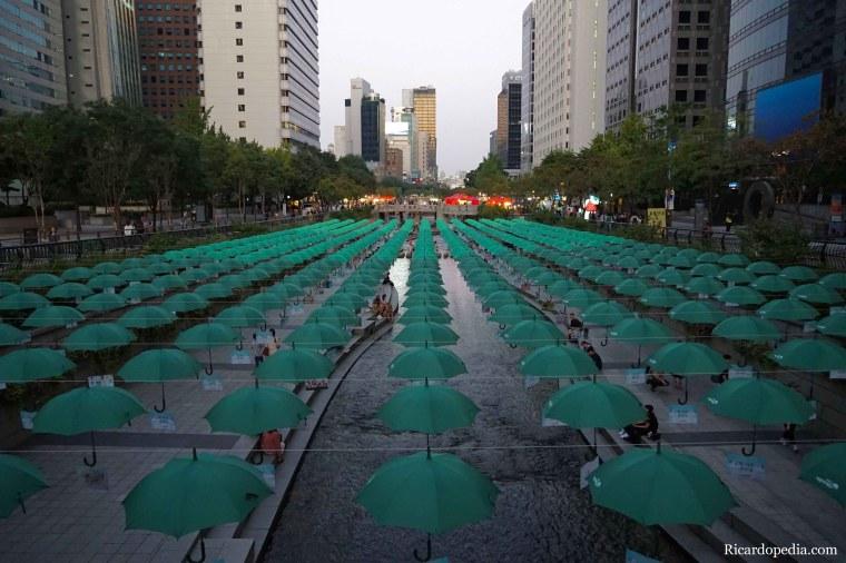 Korea Seoul Cheonggyecheon Stream