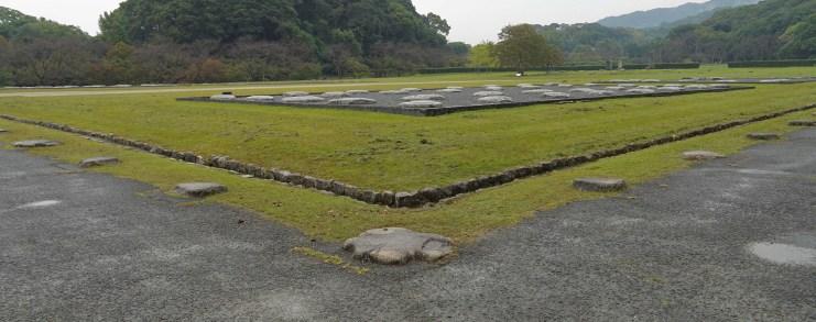 Japan Dazaifu Government office ruins