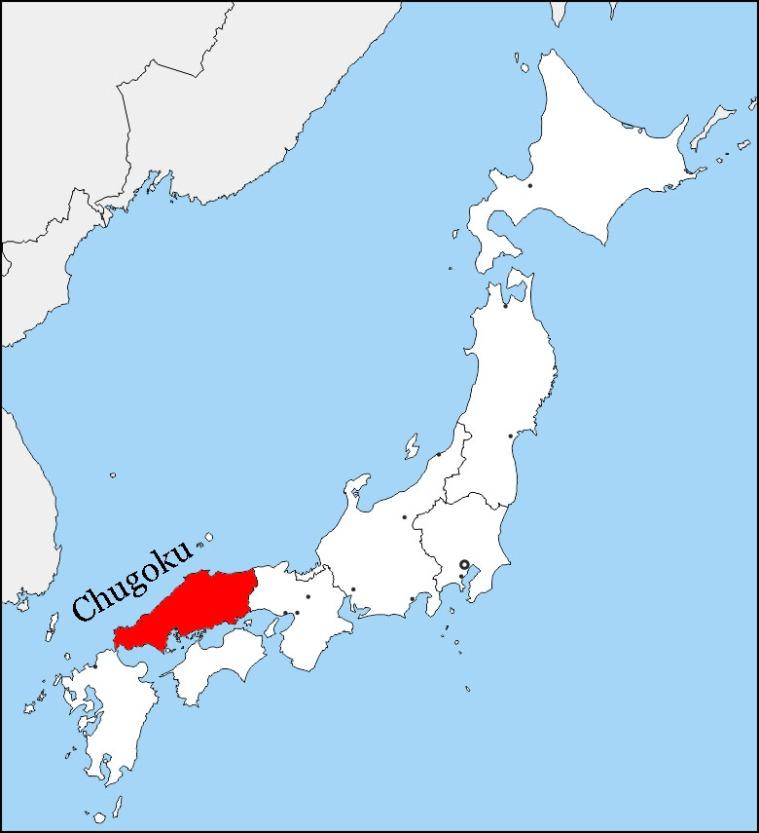 Japan-Korea 2019 Chugoku Map