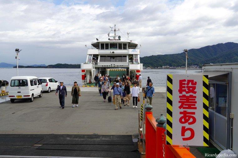 Japan Miyajima Leaving Ferry
