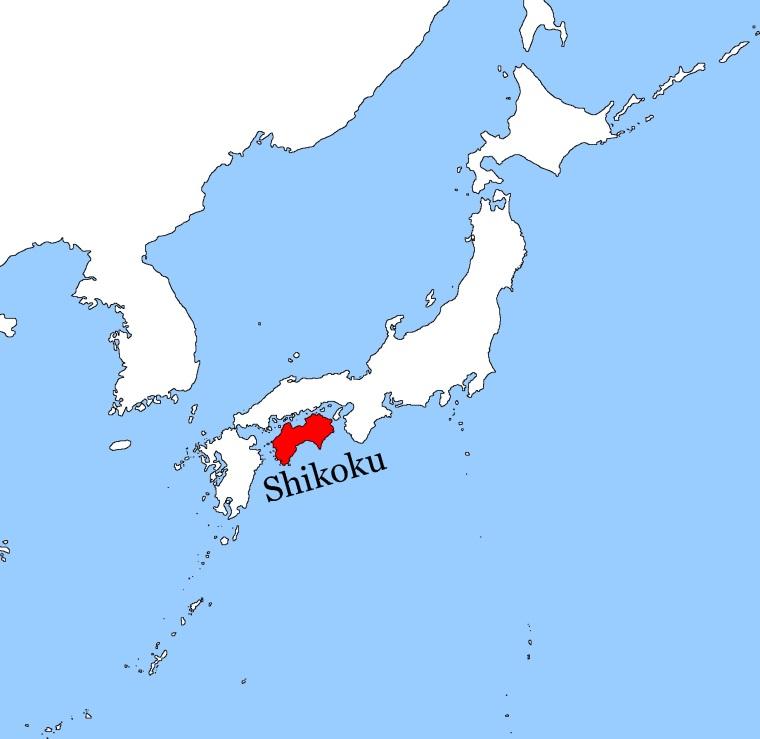 Japan Shikoku Map