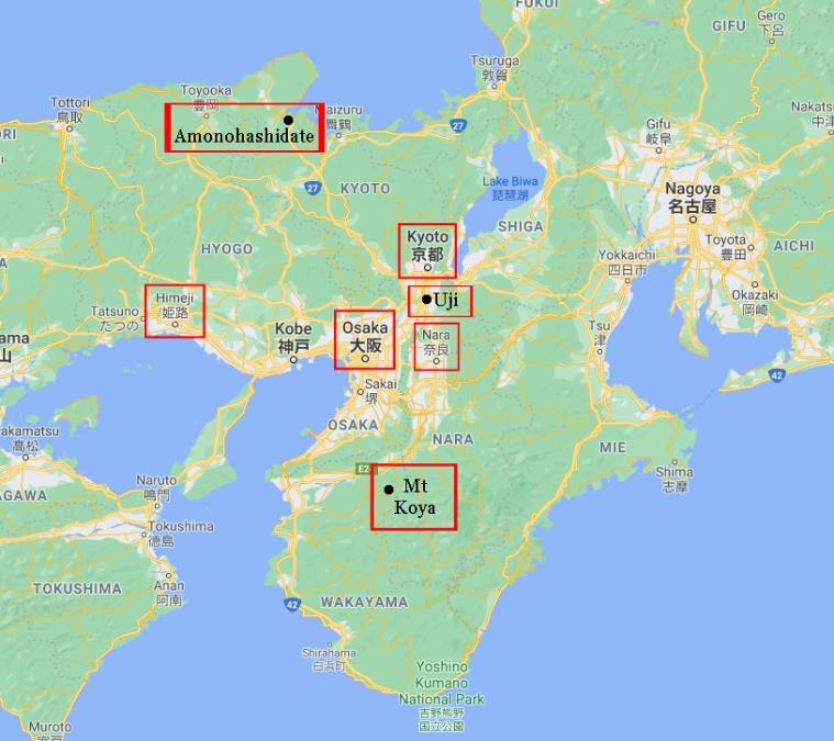 Japan Kansai Map Locales